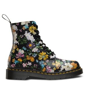 NEW DR DOC MARTEN  PASCAL FLORAL ANKLE BOOT